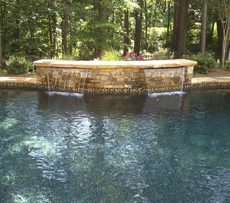 stacked stone waterfall travertine - photo #15