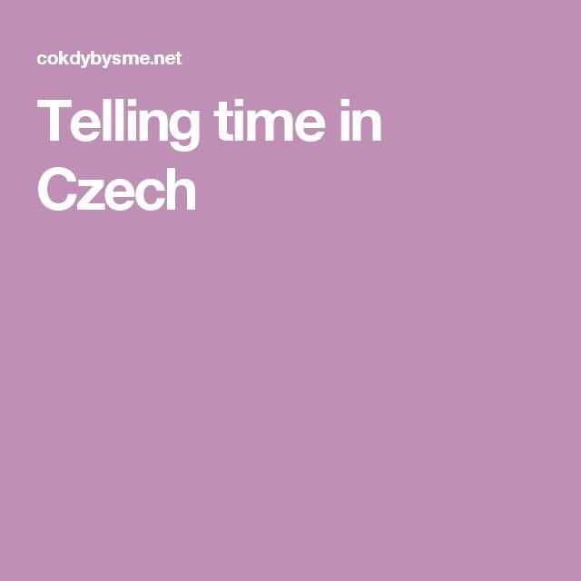 Telling time in Czech
