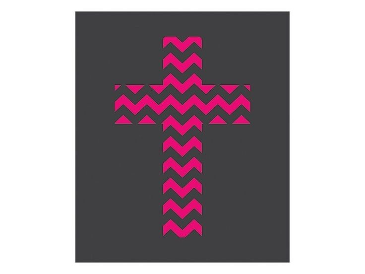 Chevron Cross Vinyl Auto Decal