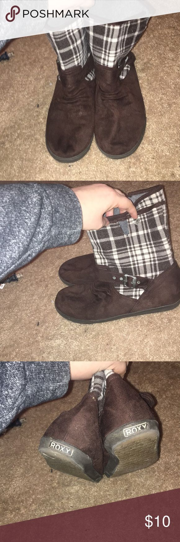 Mid calf Rocky boots size 9 Brown mid calf boots, super comfortable, gently worn Roxy Shoes Winter & Rain Boots