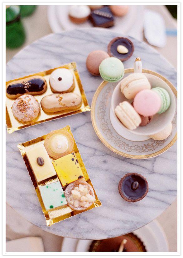 #petit fours, #macarons