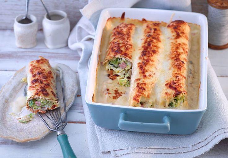 Wohlig und herzerwärmend: feine Dinkelpfannkuchen mit Ricotta und Sbrinz-Béchamel.