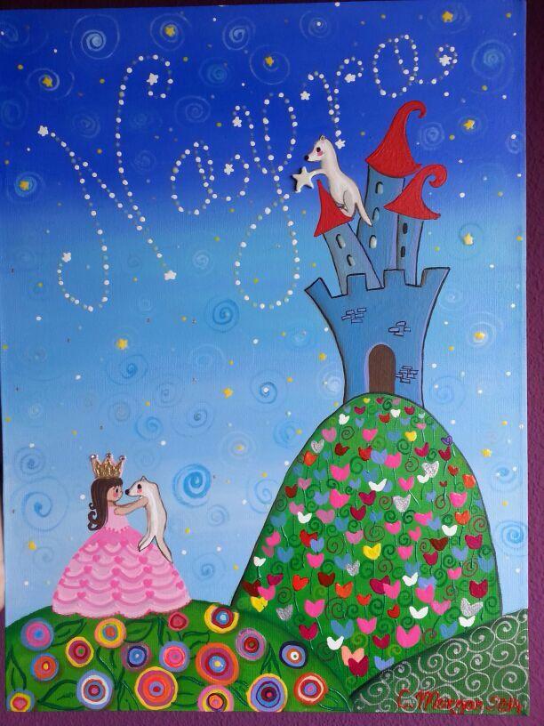 La princesa y sus hurones Más cuadritos en Https://www.facebook.com/cuadritos.decolores.7
