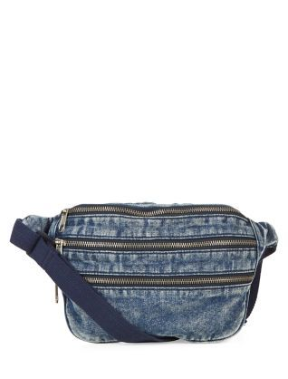 Go hands-free by keeping all your essentials in this Blue Denim Acid Wash Bumbag.