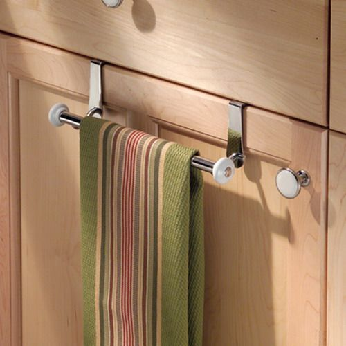Makes use of wasted space but would want the towel rack to be stable and not wobble nor interfere with door movement.