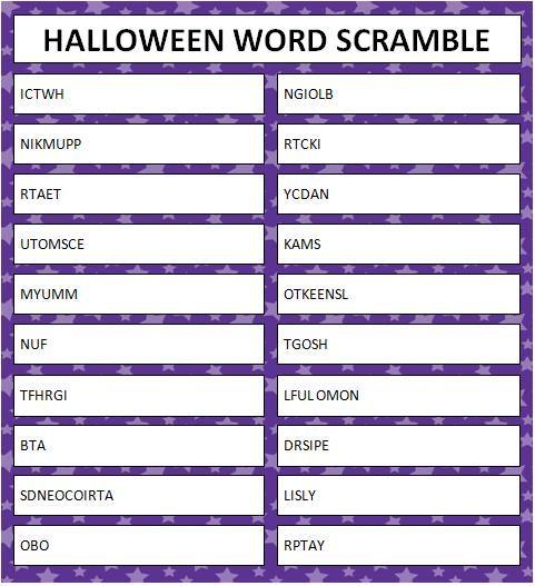 Halloween Word Scramble (Free Printables) #KidsActivities