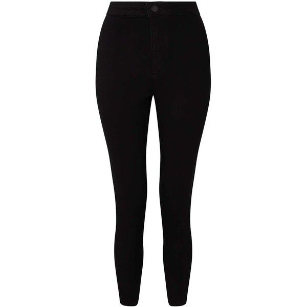 Miss Selfridge Black Cropped Steffi Jean (1 030 UAH) ❤ liked on Polyvore featuring jeans, black, miss selfridge jeans, miss selfridge, cropped skinny jeans and cropped jeans