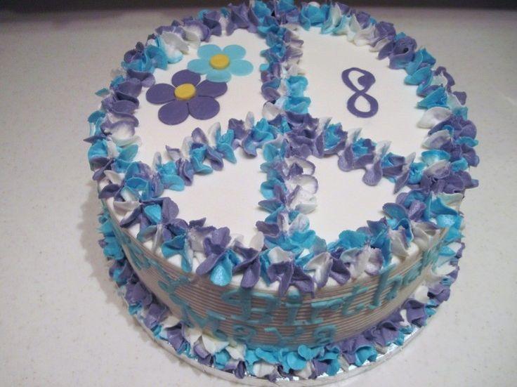 Groovy Peace Sign Cake