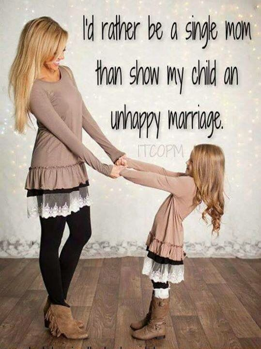 Very sad bc there's a lot of women that stay in relationships just bc they don't want to do anything alone! That's why you hear kids saying they don't want to ever get married! One thing im glad my husband and I gross our kids out! How it should be to show your children what is so amazing about marriage