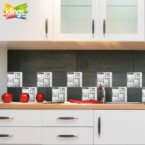 Vinilos Decorativos - Azulejos de 15 x 15 modelo KOK. WALL STICKER DECOR.