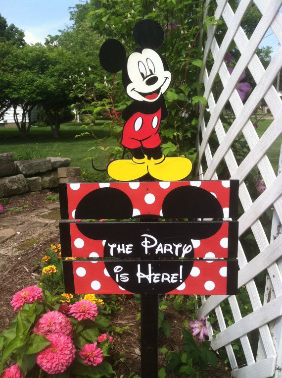 Hey, I found this really awesome Etsy listing at https://www.etsy.com/listing/194826970/mickey-mouse-birthday-yard-sign