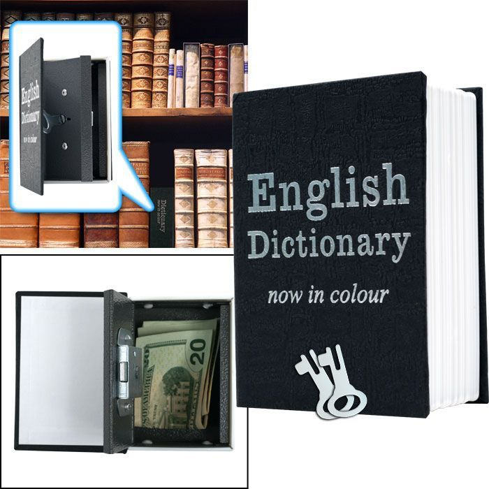 Trademark Mini Dictionary Diversion Book Safe w/ Key Lock - Metal