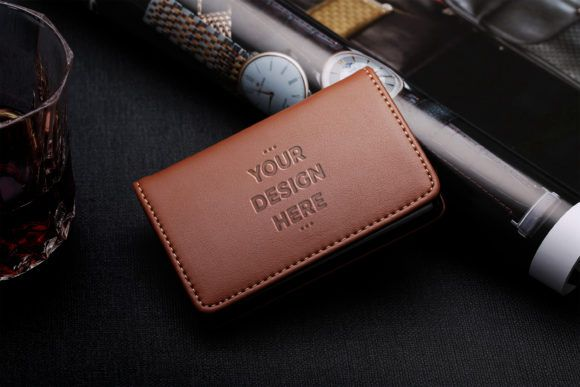Leather Wallet Mockups Template Graphic By Suedanstock Creative Fabrica Leather Wallet Brown Leather Wallet Mockup Template