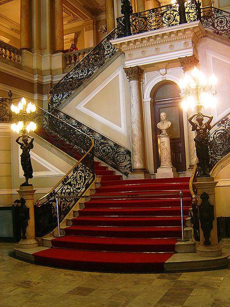 Staircase, National Library, Rio de Janeiro, Brazil  photo via wiki
