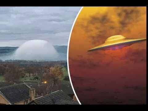 UFO shock as 'alien spaceship' spotted hidden in eerie dome cloud 👽😲