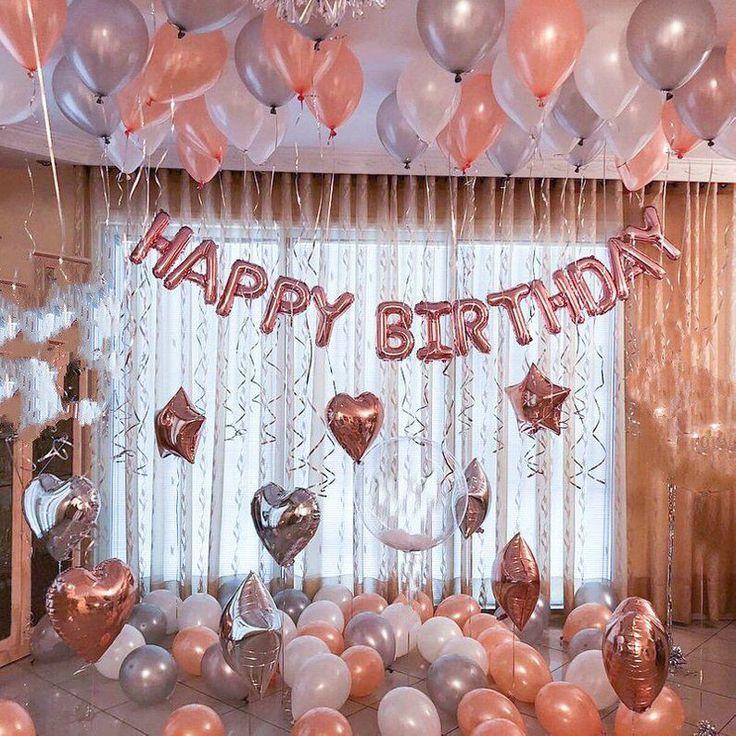 Rose Gold Happy Birthday Dekoration Set | 21. Geburtstag Party Ideen Dekor | 16. 18. Rotgold Geburtstag Partei Banner Zeichen