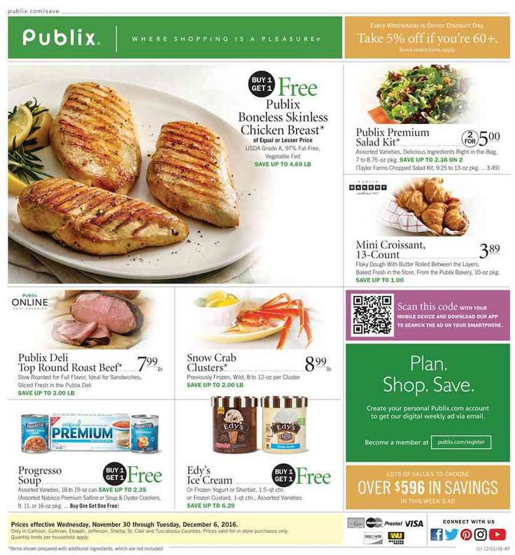 Publix Weekly Ad November 30 - December 6, 2016 - http://www.olcatalog.com/grocery/publix-weekly-ad.html