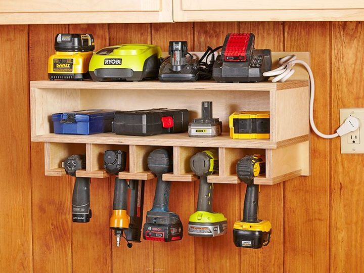 Cordless Tool Station Woodworking Plan Need To Build This For All Of Our Stuff Great Store Batteries And Charging Stations Too