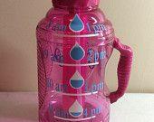 Water Bottles/Gallon Water Bottle/Personalized Water Bottles/Measured Water Bottle/Workout water bottle/New Year's Resolution/8 cup bottle