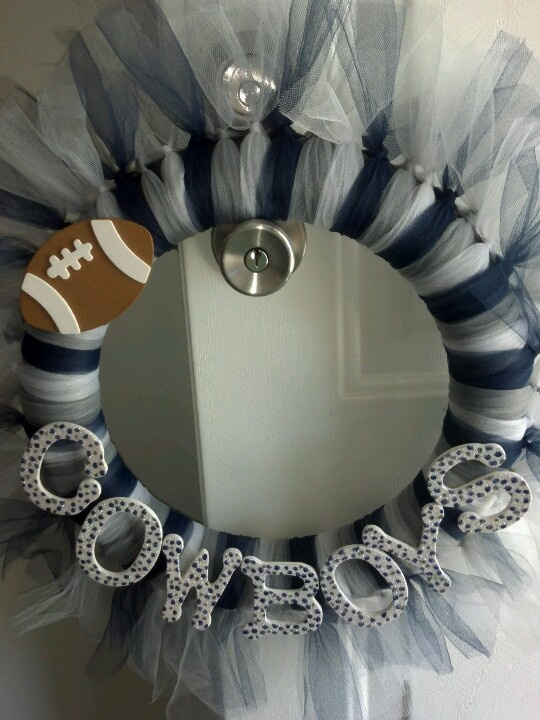 Dallas Cowboys tulle wreath I made.
