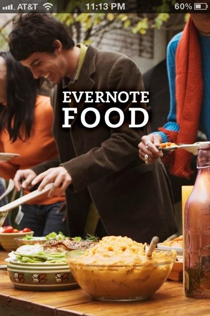 Splash Screen from Evernote Food › PatternTap