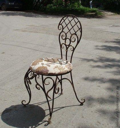 Стул кованый - чёрный,стул,стулья,Мебель,мебель ручной работы,мебель на заказ