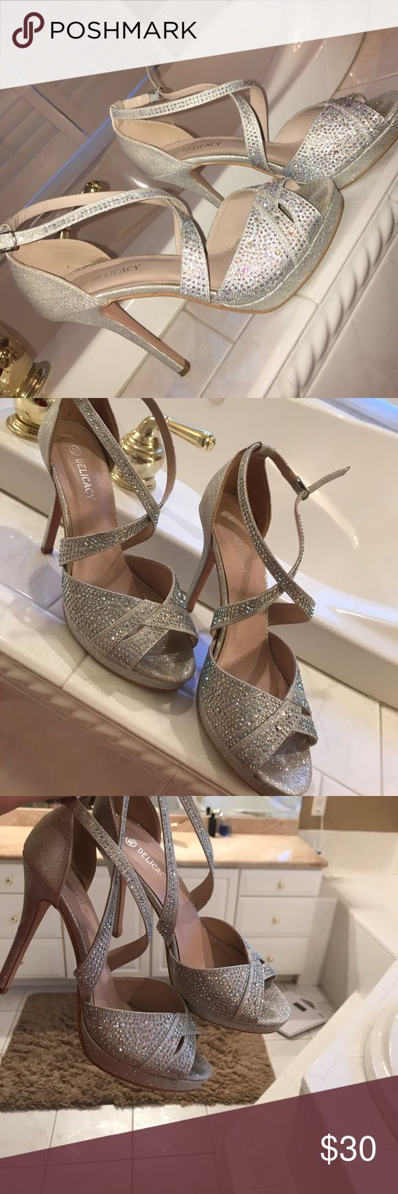 Sparkly high heels! Super tall sparkly high heels 👠 super beautiful and worn only once for prom. Shoes Heels