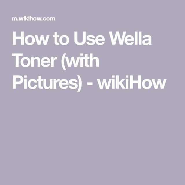 Use Wella Toner