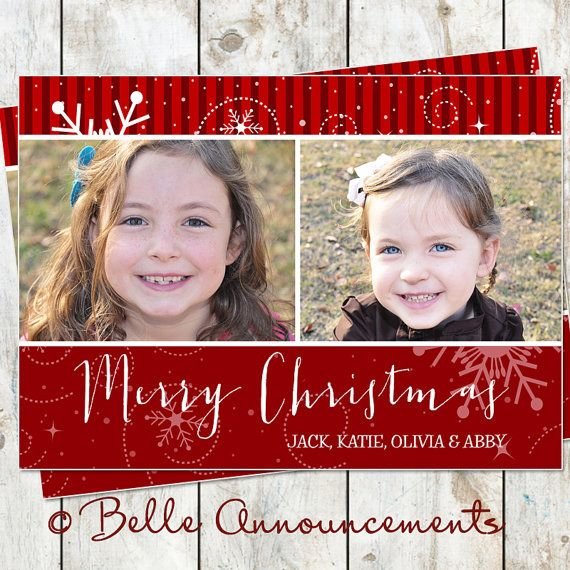 Snowflake City Christmas Photo Card by rocketliv on Etsy