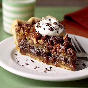 Millionaire's Pie - German chocolate cake, toasted pecan pie and chocolate chips. All that in a flaky piecrust. Dan might like this.