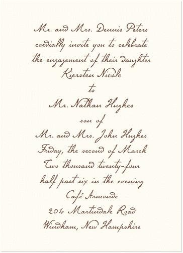 Canvas Wedding Announcement Cards