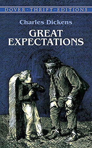 Great Expectations (Dover Thrift Editions)  The adventures of Pip, Miss Havisham & Estella--a Victorian soap opera that is one of Dickens most fun reads.
