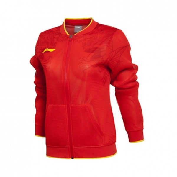 Li-Ning Rio 2016 Olympics China Table Tennis (Ping Pong) Team Women's Tracksuit Jacket - Red