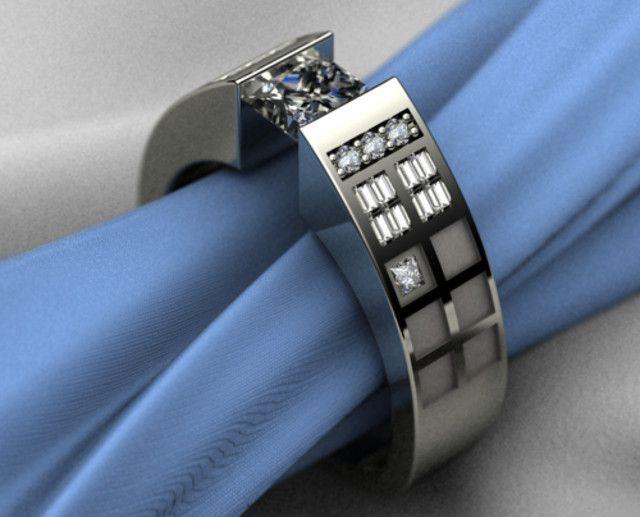Dr. Who TARDIS engagement ring. Ladies?