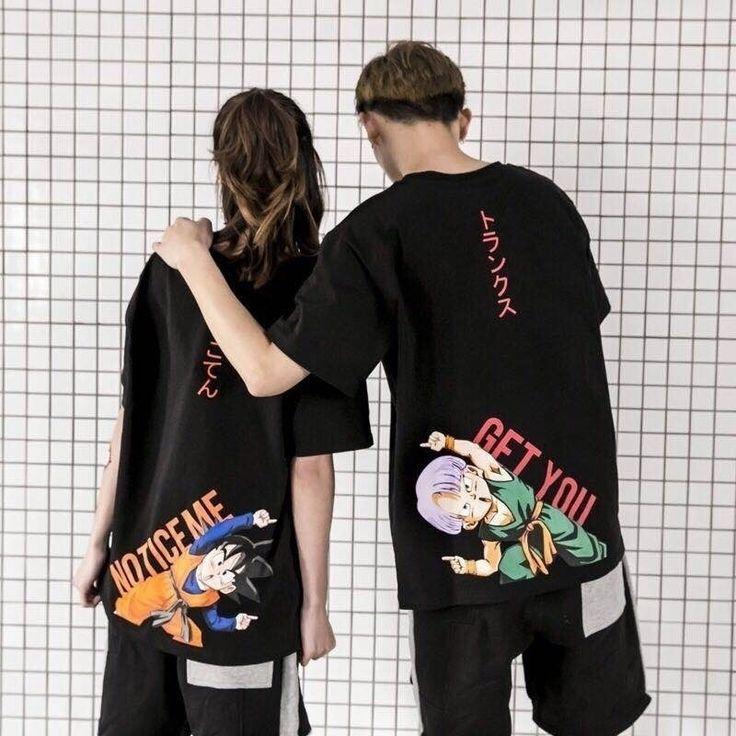 Unisex Fashion Street Fashion Couples Dragon Ball T-shirt Couple T-shirt