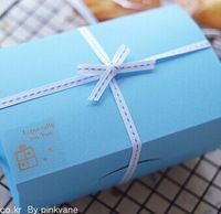 FREE SHIPPING mini blue bakery food packages mooncake packaging box for birthday cookie package boxes  14*9*6cm