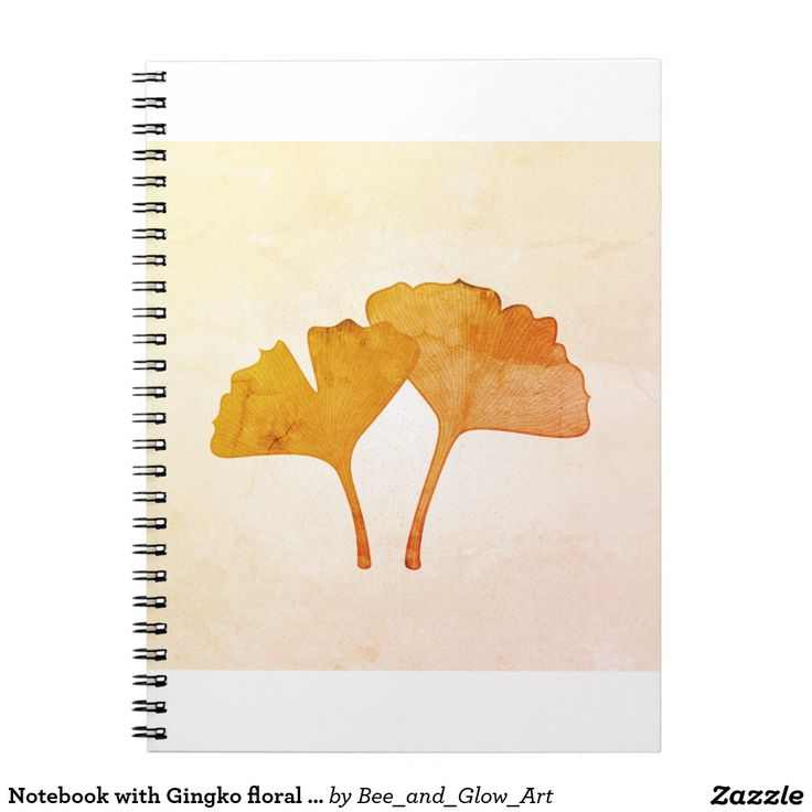 Notebook with Gingko floral art