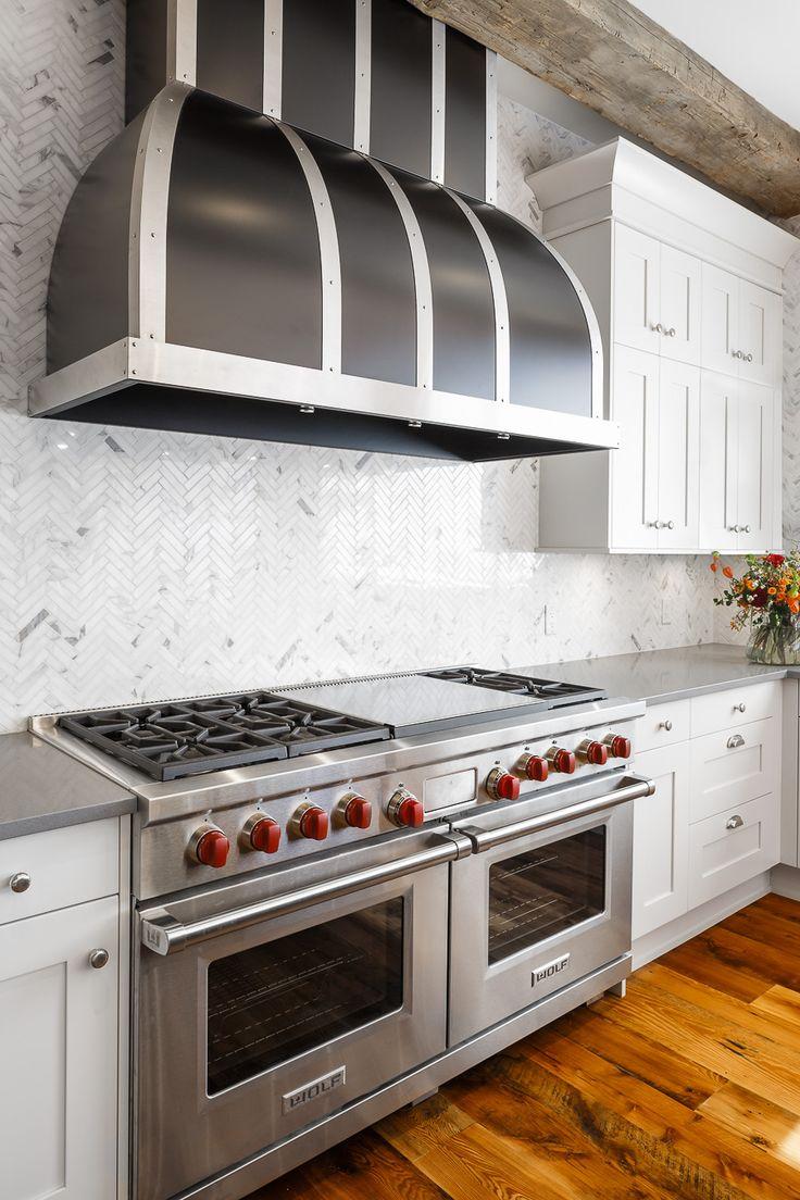 Stunning Custom Hood Fan! Downsview Kitchen Designed By Astro Design    Ottawa
