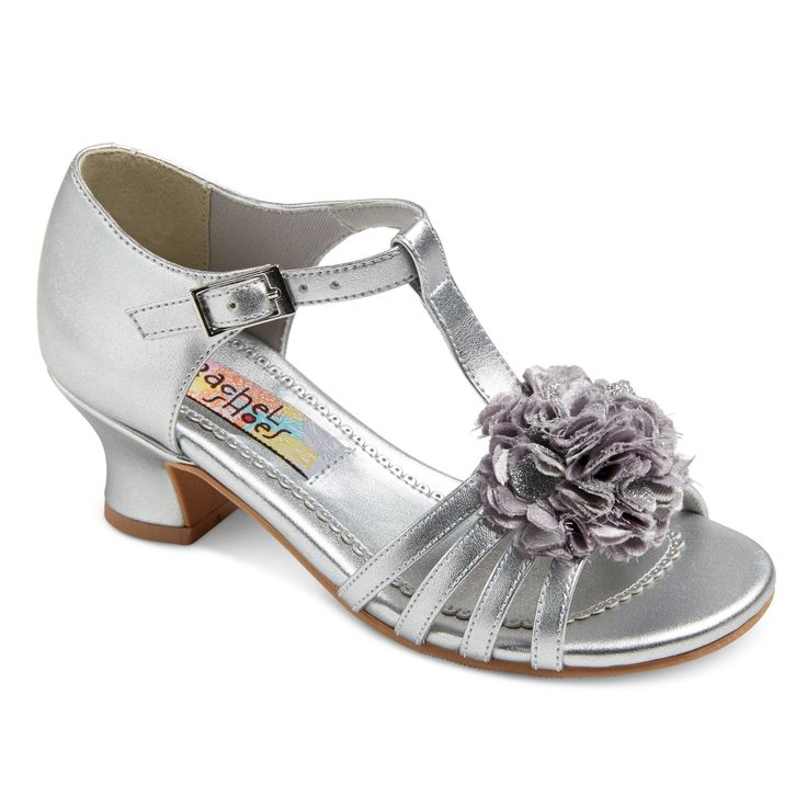 Girls' Maybelle Quarter Strap Dressy Sandals Silver Metallic 13 - Rachel Shoes