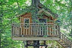 Tree house rental, Tremblant