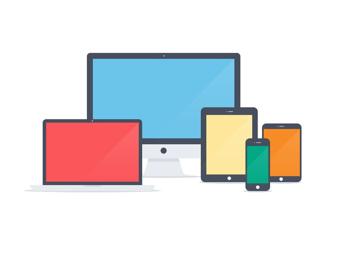 Flat Apple Devices - 365psd