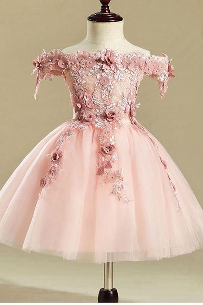 c07330f6c Ball Gown Off-the-Shoulder Floral Flower Girl Dresses #angrila #flowergirl  #weddings