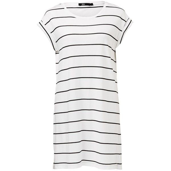 TEE DRESS (1.795 RUB) ❤ liked on Polyvore featuring dresses, one piece, white t shirt dress, t-shirt dresses, white color dress, tee dress and white colour dress