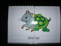 La classe de Laurène: Livre à syllabes .... wish I had done this with my Animaux de compagnie theme