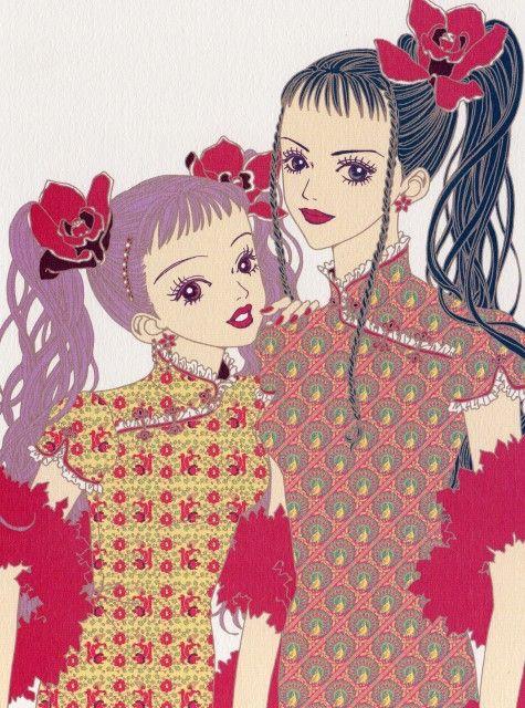 "Miwako Sakurada & Yukari Hayasaka from ""Paradise Kiss"" series by manga artist Ai Yazawa."