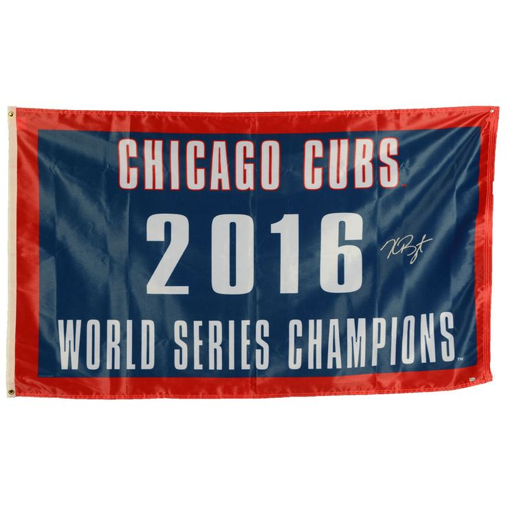 Kris Bryant Chicago Cubs Fanatics Authentic Autographed 2016 MLB World Series Champions World Series Champs 3' x 5' Flag