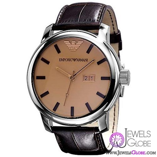 leather armani watches for men