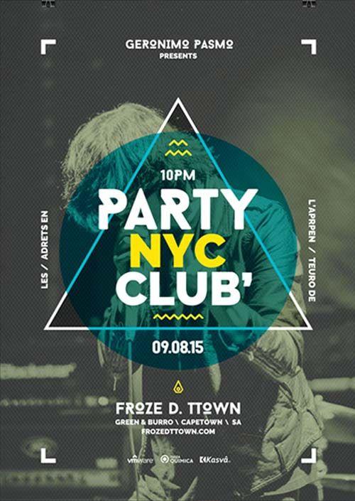 """Plantilla gratis PSD """"Club Party"""""""