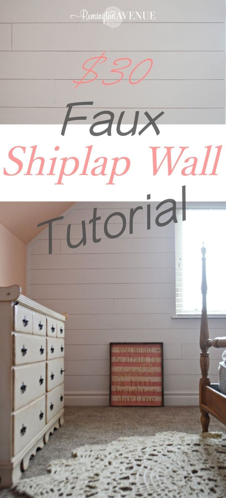 Faux shiplap Wall - Remington Avenue