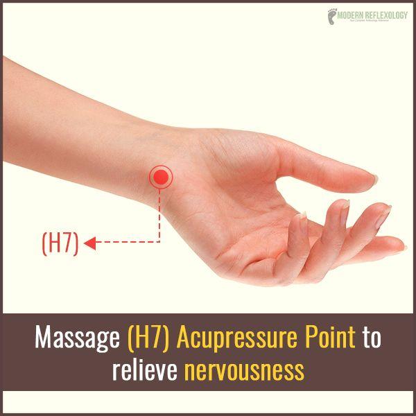 Get rid of nervousness just by working on #H7 point! #Acupressure #Reflexology #ModernReflexology